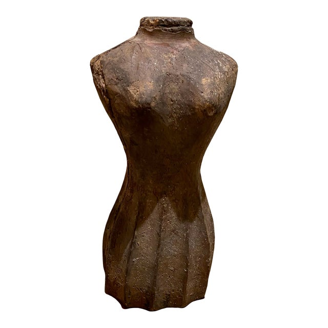Small Antique French Dress Form For Sale
