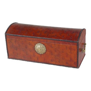 Sarreid Ltd. Baron's Leather Box, Oxblood