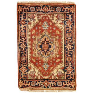 Traditional Pasargad N Y Serapi Design Hand-Knotted Rug - 2' X 3' For Sale