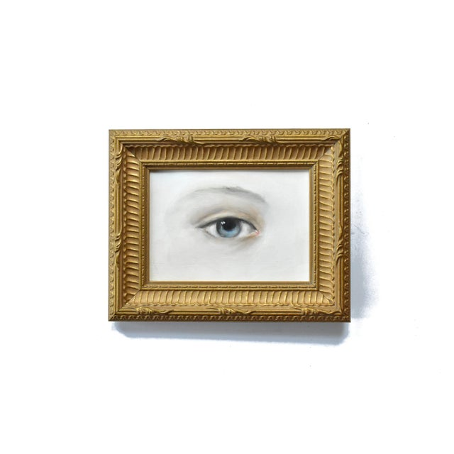 Lover's Eye miniature paintings were popular in the late 18th and early 19th centuries (Georgian and Regency periods), and...