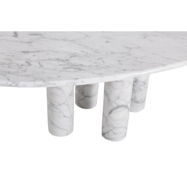 Mario Bellini Il Colonnata Oval Dining Table in Carrara Marble for Cassina For Sale - Image 10 of 12