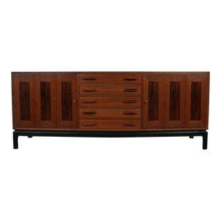 Mid-Century Modern Walnut and Rosewood Credenza For Sale