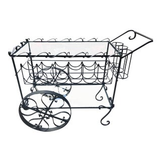 Vintage Iron Wine Cart For Sale