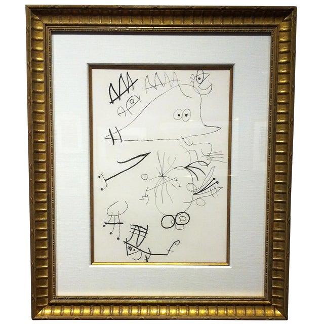 """Joan Miro Original Etching """"Le miroir de l'home par les betes I"""" For Sale"""