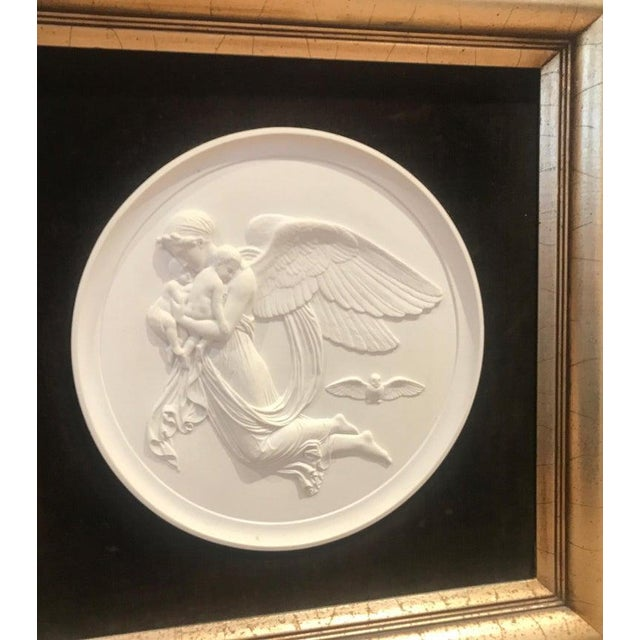 Traditional 19th Century Royal Copenhagen Framed Porcelain Plaques - a Pair For Sale - Image 3 of 9