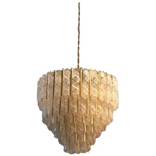 Italian Mid Century Round Six-Tiered Mazzega Chandelier For Sale