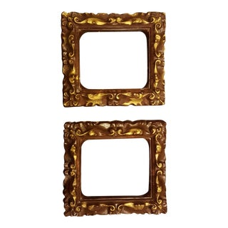 Vintage Chalkware Frames - A Pair