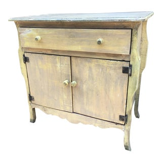 1930s French Country Rustic Cabinet For Sale
