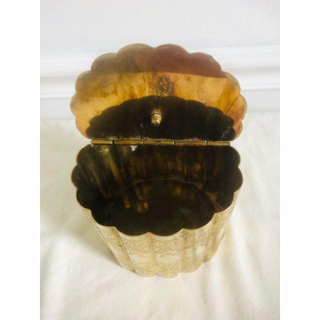 1970s Vintage Lidded Brass Trinket Box For Sale - Image 4 of 8
