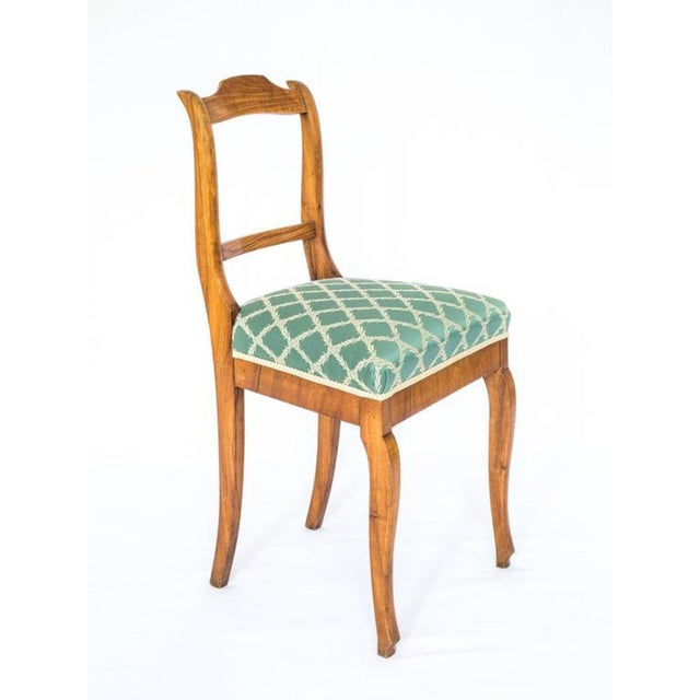 Late 19th Century Late 19th Century Antique French Walnut Chairs- A Pair For Sale - Image 5 of 6