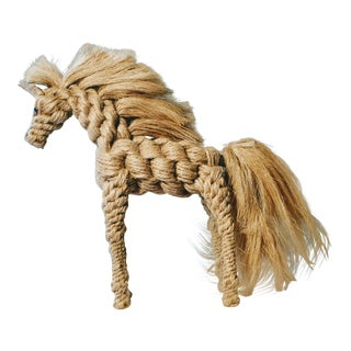 Rope Hemp Horse Sculpture