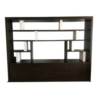 Christian Liaigre Brown Bookcase For Sale