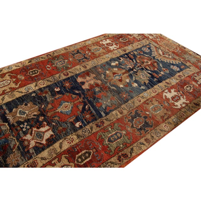 "Islamic Vintage Persian Tribal Bakshaish Rug, 3'3"" X 10'10"" For Sale - Image 3 of 11"