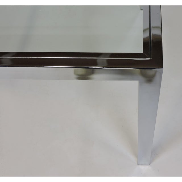 Metal Design Institute America Dia Mid-Century Modern Extendable Chrome Dining Table For Sale - Image 7 of 11