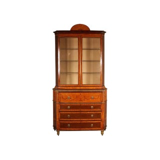 19th Century George III Style Marquetry Secretaire Cabinet