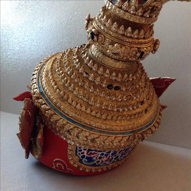 Antique Thai Demon Khon Mask - Image 8 of 11