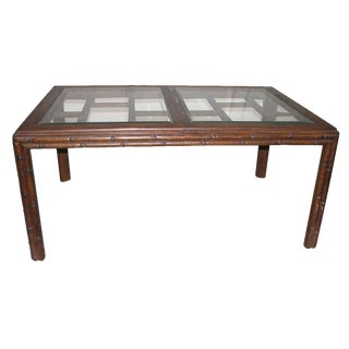 Asian Style Extendable Dining Table