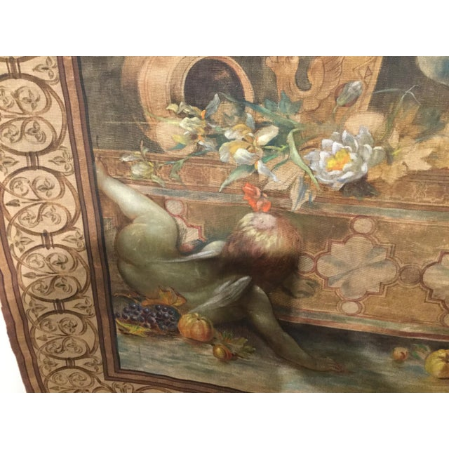 Late 19th Century 19th Century French Aubusson Tapestry Cartoon For Sale - Image 5 of 13