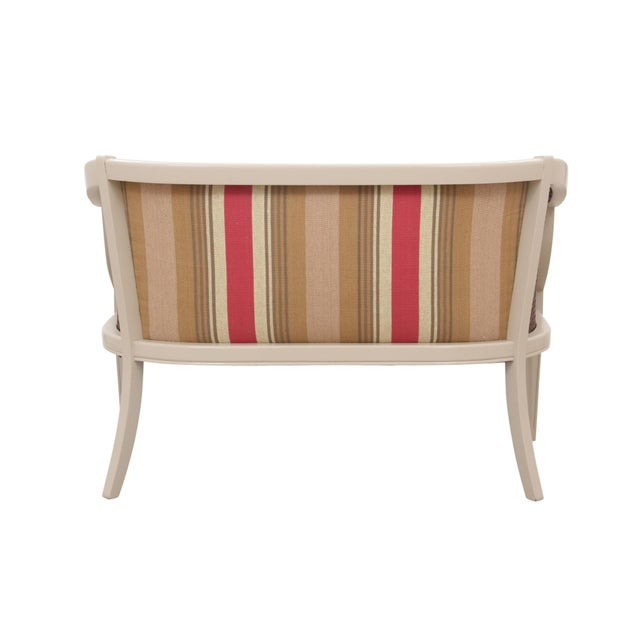 Boho Chic Neoclassical Style Caned Settee For Sale - Image 3 of 6