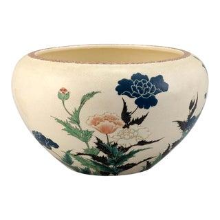 Japanese Studio Ceramic Centerpiece Okumura Shozan Meiji Period For Sale