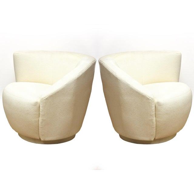 "1970s Vintage Vladimir Kagan"" Nautilus"" Swivel Lounge Chairs- A Pair For Sale - Image 9 of 11"