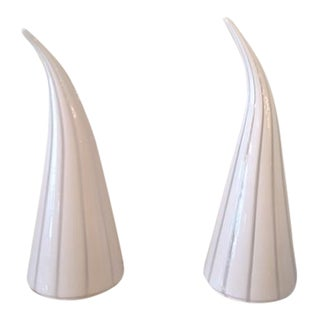Vetri Murano Conical Striped Lamps - Pair