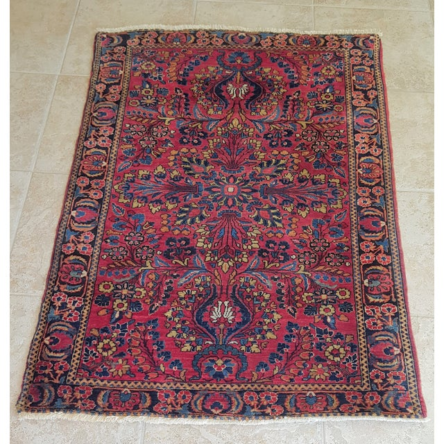 Brightly Colored Persian Rug - 3′4″ × 5′1″ - Image 3 of 4