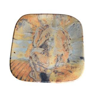 Grès Porcelain Stoneware Plate For Sale