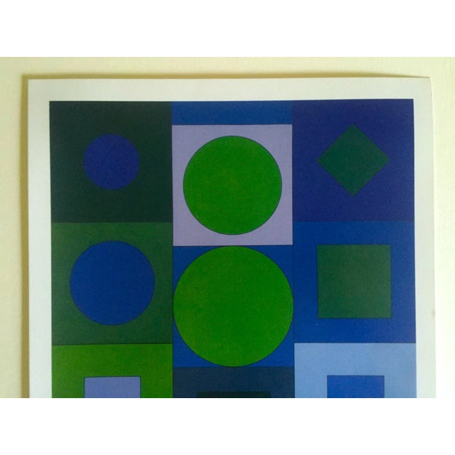 "This Victor Vasarely vintage Op Art Modernist geometric offset lithograph print "" Alphabet V.B. "" 1960, is a very special..."