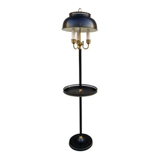 Mid 20th Century Black Tole Floor Lamp