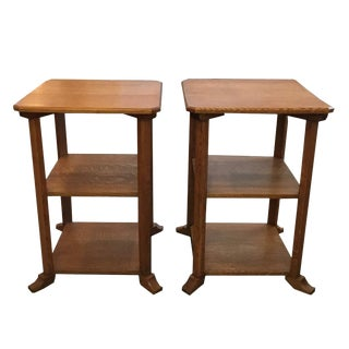 20th Century Americana 3-Tier Side Tables - a Pair