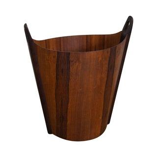 P.S. Heggen Danish Modern Rosewood Waste Basket