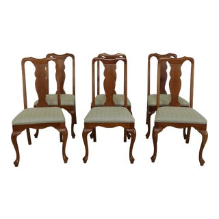 Set of 6 Harden Queen Anne Dining Room Chairs For Sale
