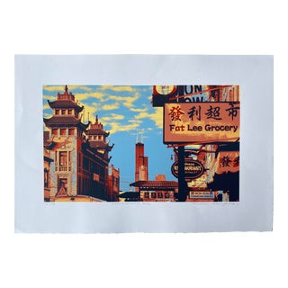 Pop Art Serigraph by Hiroshi Ariyama 'Wentworth Ave' For Sale
