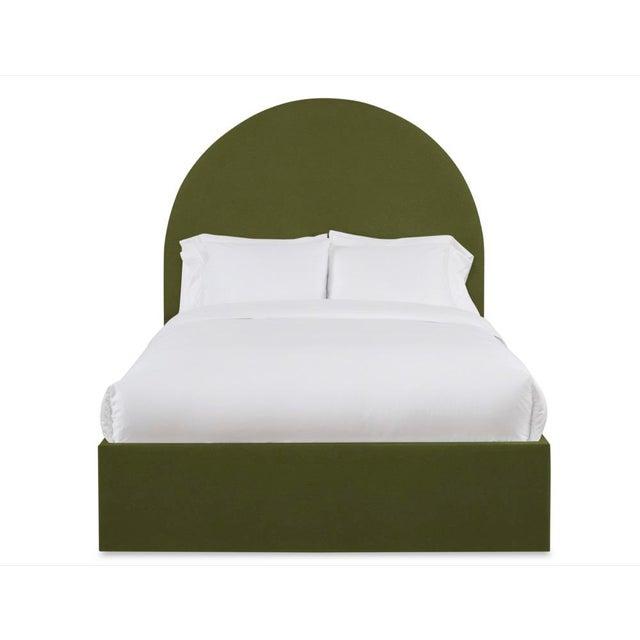 Not Yet Made - Made To Order Poppy Queen Headboard, Olive Velvet For Sale - Image 5 of 5