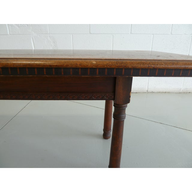Antique Wood Table With Carved Floral Motif For Sale - Image 11 of 13