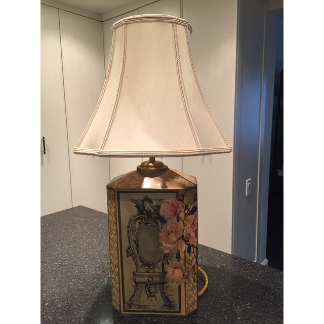 Floral Decoupage Table Lamp - Image 2 of 5