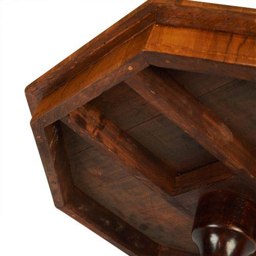 Circa 1870 Inlaid Italian Octagonal Table For Sale - Image 4 of 9