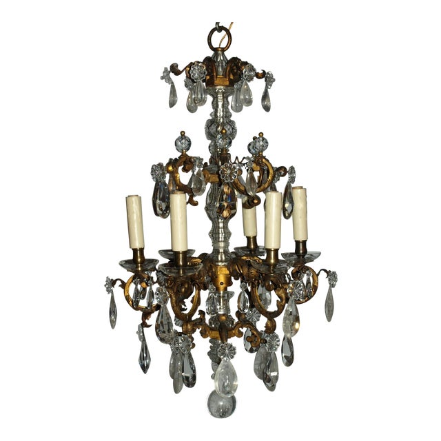 Antique Chandelier. Elegant Louis XV Chandelier For Sale