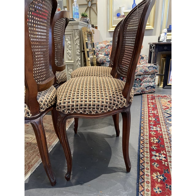 Wood 1920's French Country Walnut Dining Chairs - Set of 4 For Sale - Image 7 of 9