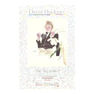 1980 David Hockney 'Celia in a Black Dress With White Flowers' Pop Art Black & White United Kingdom Lithograph For Sale