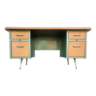 Vintage Steelcase Lockable Teachers Desk