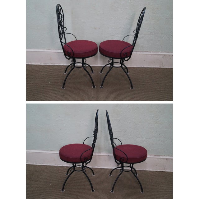 5-Piece Scrolled Iron Bistro Dining Set - Image 3 of 10