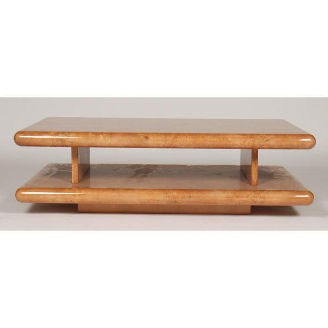 Aldo Tura Parchment Coffee Table by Aldo Tura For Sale - Image 4 of 5
