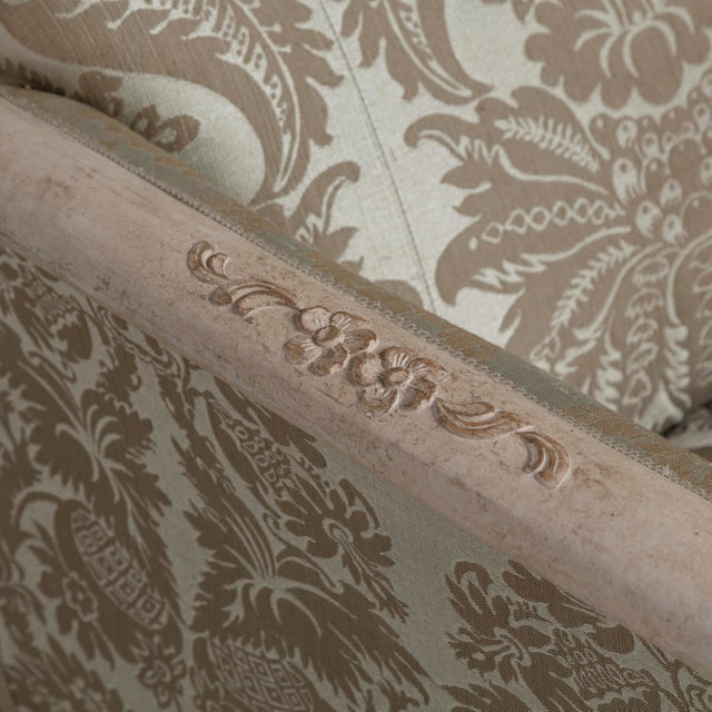 Gray A 19th Century Damask Upholstered Swedish Sofa, circa 1880 For Sale - Image 8 of 8