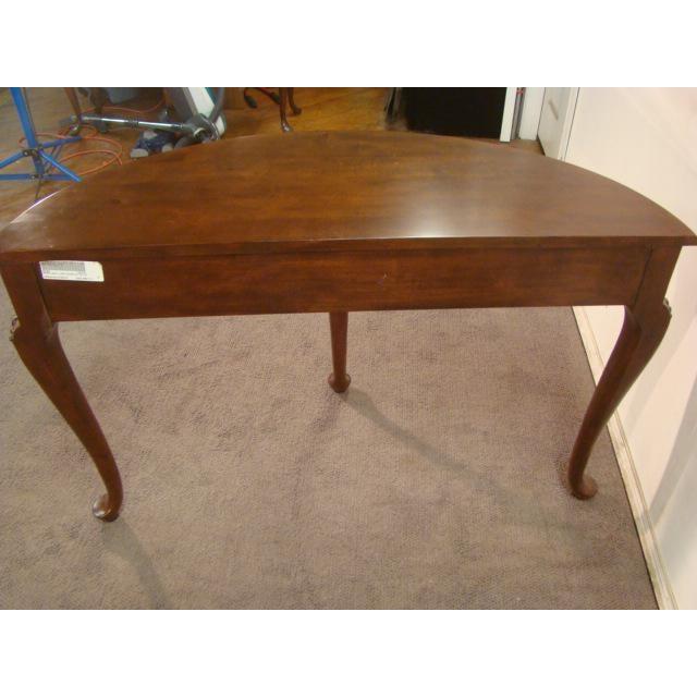 Magnificent 1990S Queen Anne Kincaid Cherry Demilune Console Table Beatyapartments Chair Design Images Beatyapartmentscom
