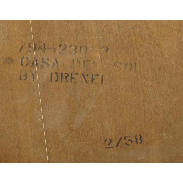 "Wood John Van Koert ""Casa Del Sol"" Coffee Table Of Walnut & Cast Metal Scrollwork For Sale - Image 7 of 7"