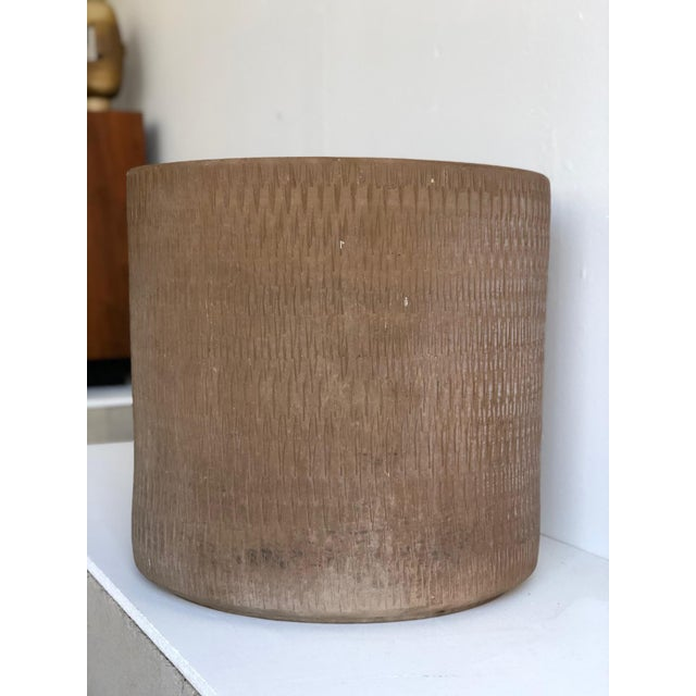Mid-Century Modern Mid Century Planter by Gainey Ceramics Sgraffito Collection For Sale - Image 3 of 8