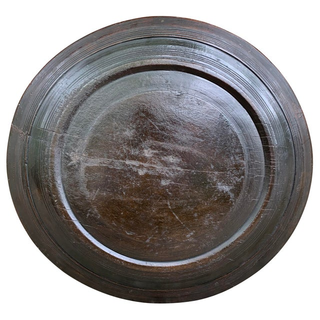 Wood Large 19th Century Antique Turned Wood Tray For Sale - Image 7 of 9