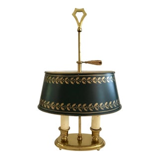 French Tole Shade Vintage Lamp For Sale